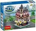 Lepin casa cidade modelos 290 PCS Decool 1109 original compatível Mini Cena Cidade conjuntos de modelos de peças de blocos de Construção Conjunto de Brinquedos