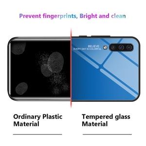 Image 5 - KEYSION Gehärtetem Glas Fall für Samsung Galaxy A50 A70 A30s A40 A20e A10 A80 M20 Telefon Abdeckung für Samsung Note 10 Plus S10 S9 S8