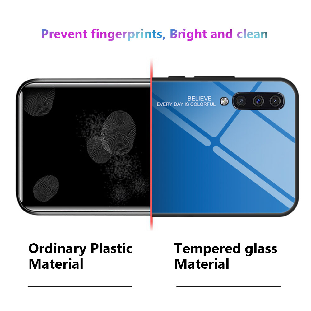 Image 5 - KEYSION Tempered Glass Case for Samsung Galaxy A50 A70 A30s A40 A20e A10 A80 M20 Phone Cover for Samsung Note 10 Plus S10 S9 S8