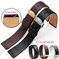18*15mm 18*16mm Pulseira de relógio de couro pulseira de Ajuste esporte negócios HUAWEI inteligente B2 B3 substituição borboleta fivela Pulseira