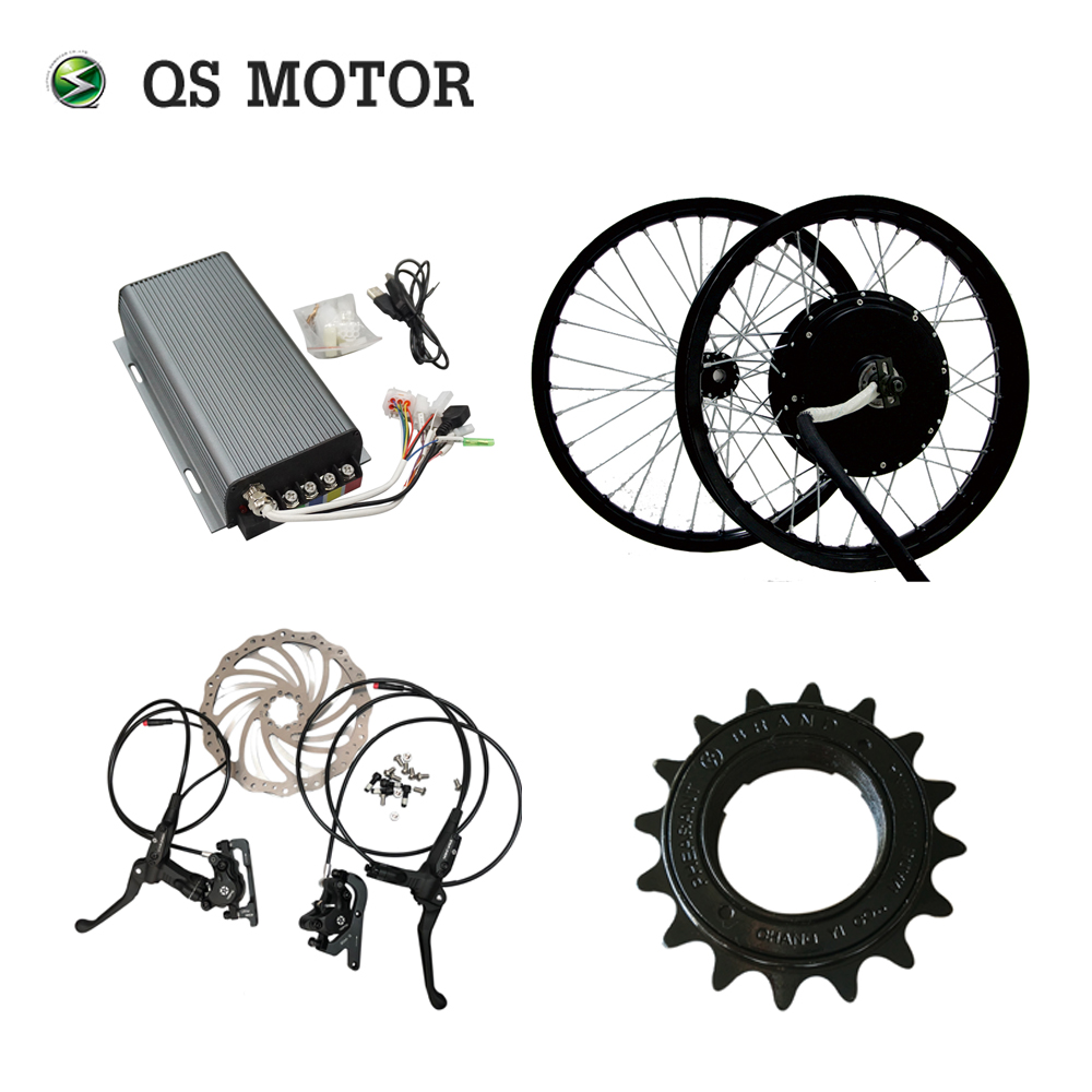 QUANSHUN BLDC Motor 3kw Electric Hub Motor Spokes 5kw With Sabvoton Controller And  Wuxing Hydraulic Disc Brake For Bicycle