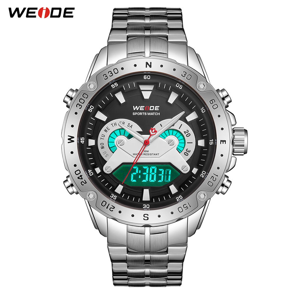 WEIDE Men Watches Analog Digital Military Quartz Stainless Steel Wristwatches Relogio Masculino Clock Hour 2019 NewWEIDE Men Watches Analog Digital Military Quartz Stainless Steel Wristwatches Relogio Masculino Clock Hour 2019 New
