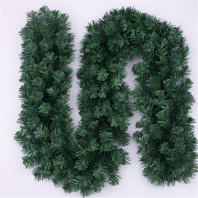 Christmas Items Decorazioni Natale 270 Cm Tree Decoration Synthetic Rattan Thick Tinsel Green Garland Party