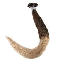 Полный блеск 100% Волосы Remy расширения U Совет волос предварительно таможенного волос Ombre Цвет #4 потертостями до 27 1 г/strand 50 г подсказка волосы