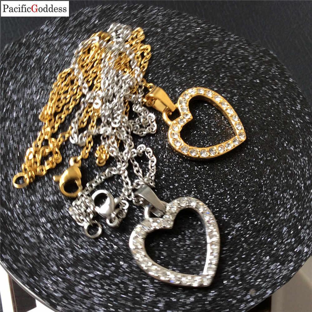 Сердце острый кулон ожерелье из нержавеющей стали кулон для женщин новые ожерелья и подвески