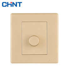 CHINT Electric Wall Switch Socket NEW2D Light Champagne Gold Air Conditioning