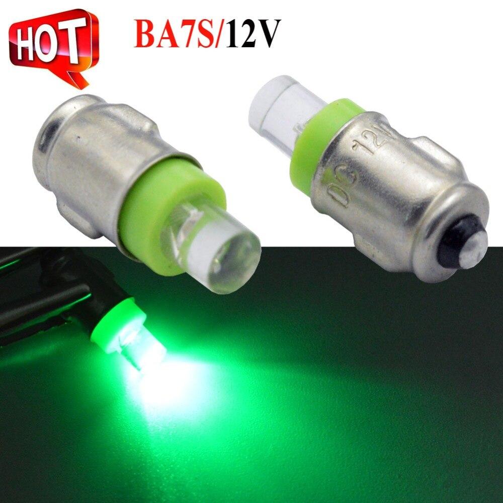 """2Pcs Bottom """"-"""" White Blue Green 12V BA7S T7 LLB281 GLB281 LED Car Light Reverse Light Bulb Warning Lamp"""