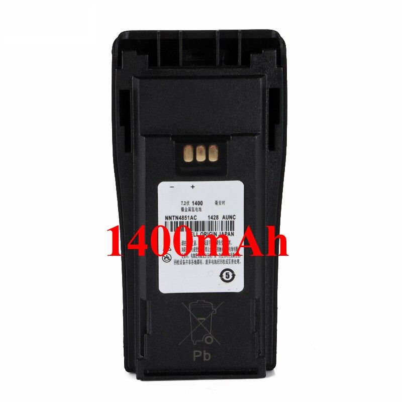 7.2V Ni-MH 1400mAh Motorola Battery For Walkie Talkie Motorola Radio  GP3688 GP3188 CP040 CP150 EP450 CP380 CP200+Belt Clip