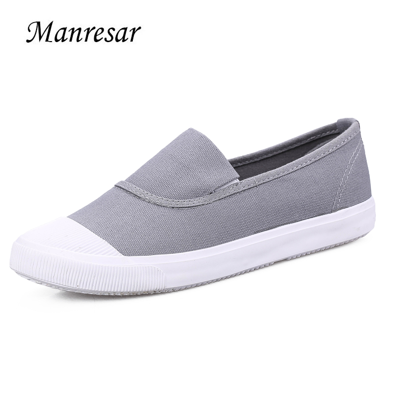 Manresar 2017 Women New Fashion Flat Shoes Spring Slip-on Striped Canvas Shoes Women High Quality Breathable Women Zapatos Mujer manresar 2017 new women canvas casual shoes high platform wedge girl trainers breathable outdoor walking zapatillas mujer 35 40