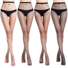 Hollow Out Sexy Pantyhose Black Mesh Stockings Jeans Stretch Bottoming Stocking Fishnet Stockings Tights High Quality Female high quality black mesh women stockings