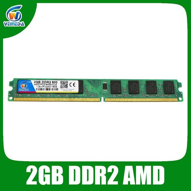 Оперативная память VEINEDA ddr2 2 ГБ 4 ГБ 800 МГц/667 МГц только для настольных компьютеров AMD, совместимых с ddr2 dimm