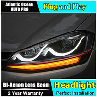 Auto Pro Car Styling For VW Golf7 Headlights Golf 7 LED Headlight Smile DRL Lens Double