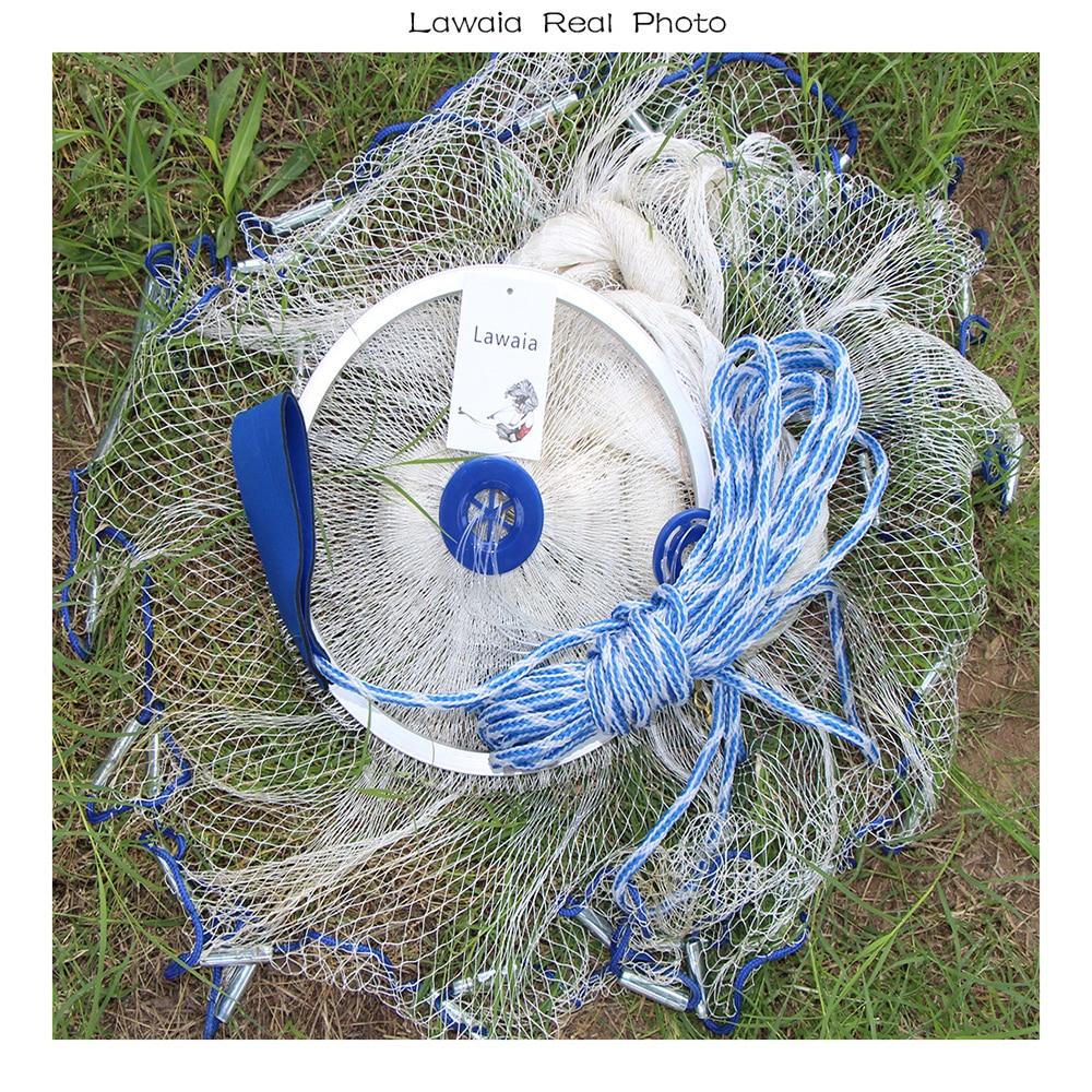 Lawaia Usa Rybářská síť Házení Ruční nylonová síťka s - Rybaření