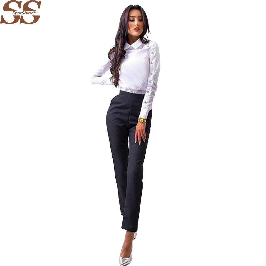 Womens Tops And Blouses Stripe Ladies Shirt Fashion Lapel Buttons Professional Tops Clothes Blusa Feminina 2018 New Style Summer