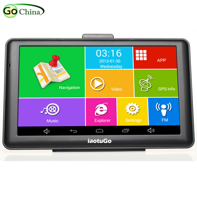 Iaotugo Car Navigator Truck Capacitive-Screen Android Gps Bluetooth-Wifi 8G Av-In Map title=