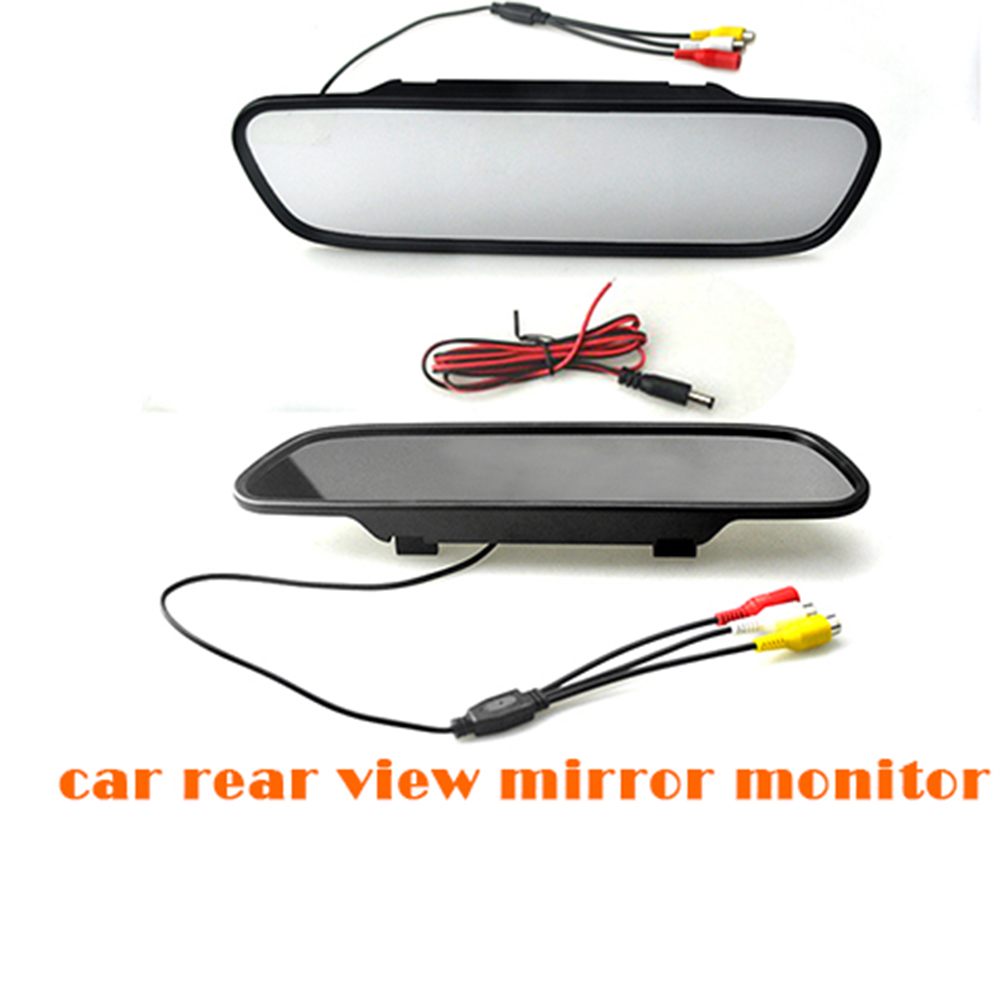 5 inch TFT LCD 16:9 800x480 screen Car Reverse Mirror Monitor display DC 12V for DVD rear view camera VCR