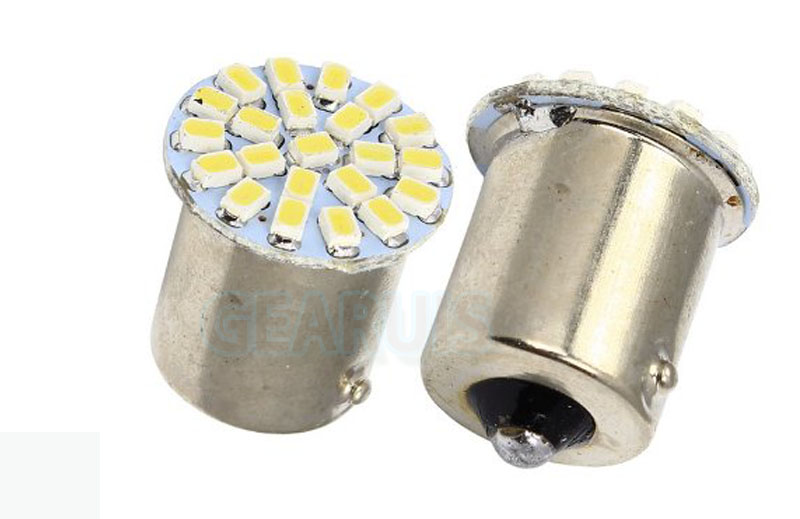 300pcsTruck LED 24V Car led S25 P21W 1156 BA15S 22 leds SMD 22smd 1206 3020 LED