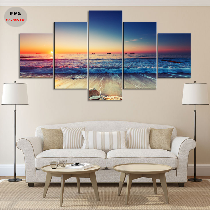 5 piece canvas art painting pintura wall pictures for for Modern home decor for cheap