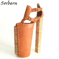 Sorbern Extrem High Heel Customized Thick Platforms Women Pump Shoes Sexy Fetish Shoes Show Runway Pumps Plus Size EU34 46