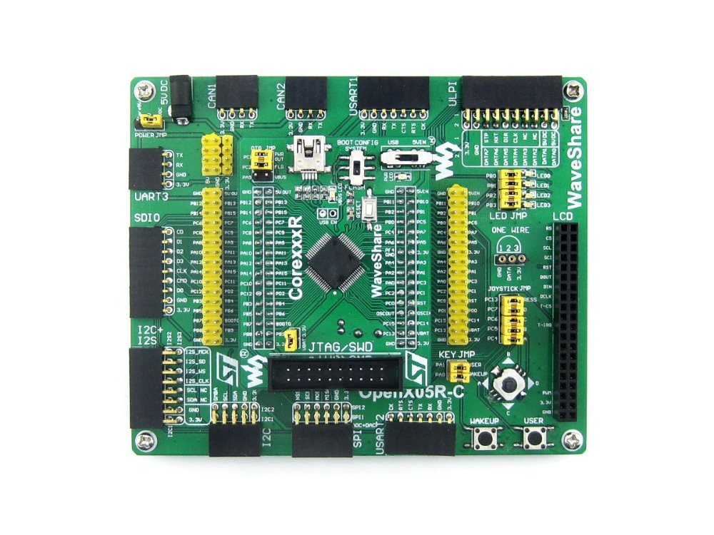 Open205R-C Standard # STM32F205RBT6 STM32F205 ARM Cortex-M3 STM32 Board + PL2303 USB UART Module Kit waveshare open205r c package a stm32 stm32f205rbt6 arm cortex m3 development board with 7pcs different functional modules cables
