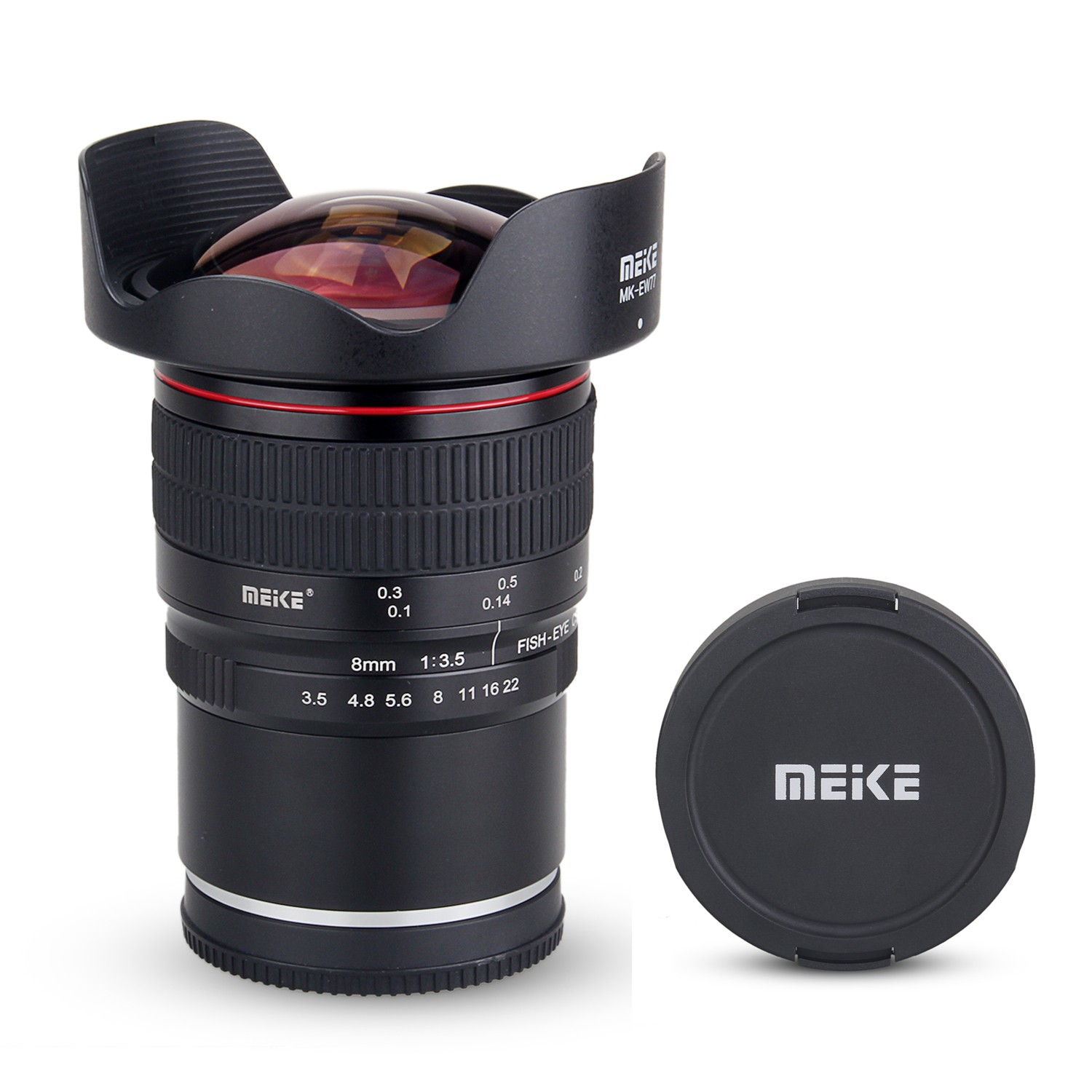 Meike 8mm f/3.5 Wide Angle Fisheye Lens for for Nikon F-mount Camera with APS-C Free shipping mirroless for aps c camera 35mm f 1 6 33mm f1 6 for micro camera free shipping