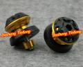 10mm Universal Swingarm Spools For Kawasaki NINJA ZX6R ZX10R ZX12R ZX14 250R Z1000 Z750 S ER6N 2004-2011 ALL YEARS Gold