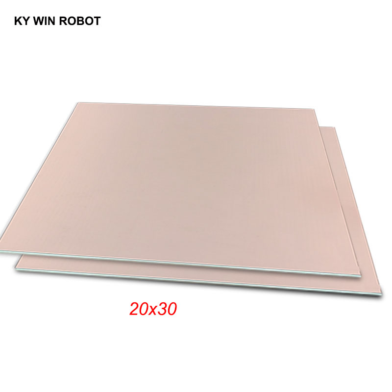 PCB Circuit Plate Single Sided Copper Clad Board Laminate 100*150mm Thick 1.5mm