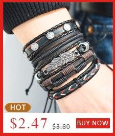 17KM Punk Design Turkish Eye Bracelets For Men Woman New Fashion Wristband Female Owl Leather Bracelet Stone Vintage Jewelry