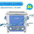 GT SONIC-P6  6L Ultrasonic Cleaner  Heater Timer Power Adjustable Stainless Tank Bath Jewelry Watch Glasses Cleaning Machine