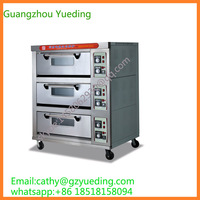 industrial three layer six tray bakery baking electric / electric oven , pizza oven