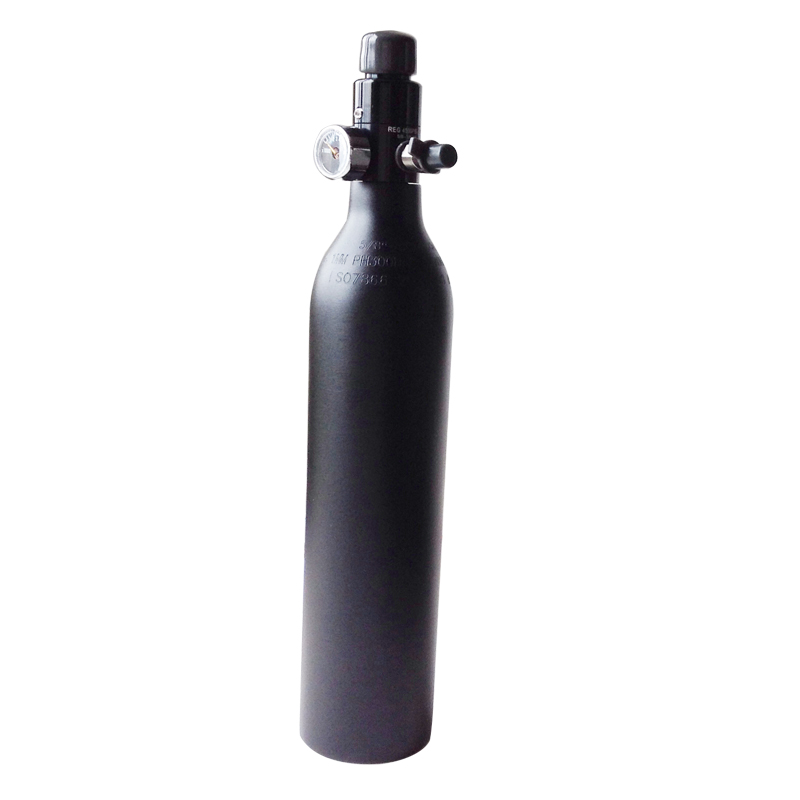 0.5L PCP Paintball HPA Tank 31CI Aluminous Alloy Cylinder 3000PSI 200BAR With 4500PSI Regulator 5/8-18UNF
