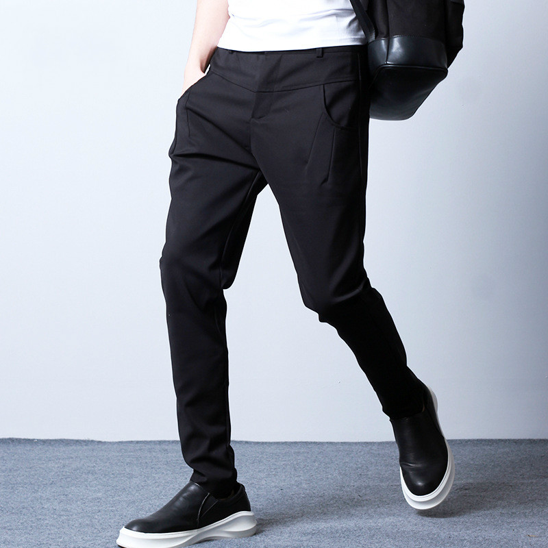 New Men s Slim Fit Casual pant Business Suit Pants high quality Cool Men Hip Hop
