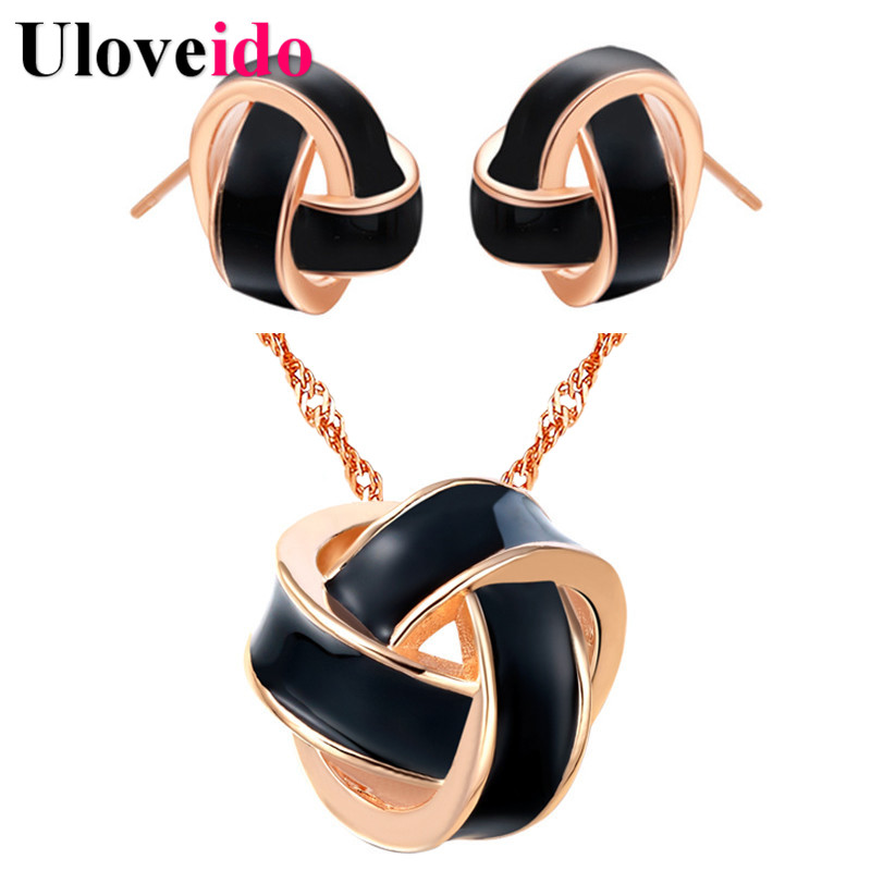 Silver Color Bridal Set Jewelry Womens Fashion Jewelry Set Necklace Earrings Costume Jewelery Set 2017 Gifts Bijouterie T271