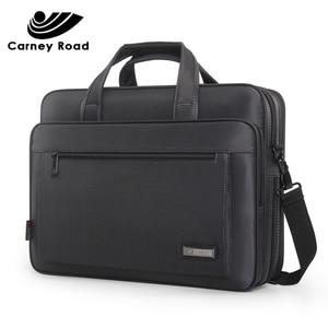Image 2 - Waterproof Oxford 14 15.6 inch Laptop Briefcase Business Men Handbag Casual Shoulder Bag for Men Fashion Messenger Bag Fashion