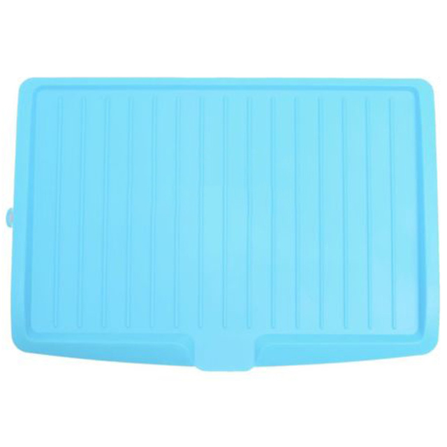 Plastic Dish Drainer Drip Tray Plate Cutlery Rack Kitchen Sink Rack Holder  Large Blue