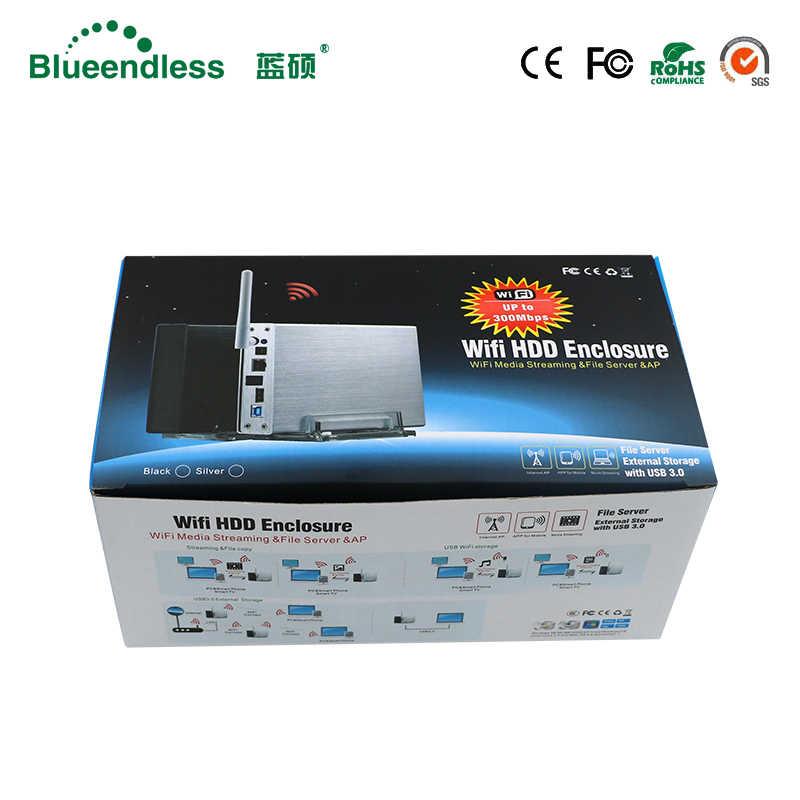 Hot bán trong EU Cup Dễ Dàng cài đặt HDD 3.5 sata usb 3.0 wifi router + wifi lưu trữ + NAS HDD trường hợp HDD enclosure SSD ổ cứng caddy