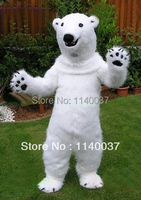 mascot Polar Bear mascot costume Christmas Holiday Animal Winter Mascotte Costume Halloween Costume OutfitSuit