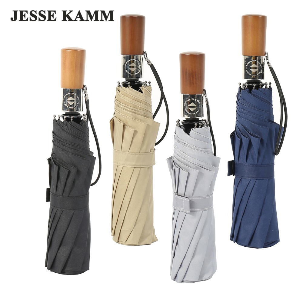 Neue Kommen Voll Automatische Regen Regenschirme Für Frauen Männer Starke Winddicht Fiberglas 10 Speichen Große Größe 1-2 Menschen 190 T Pongee