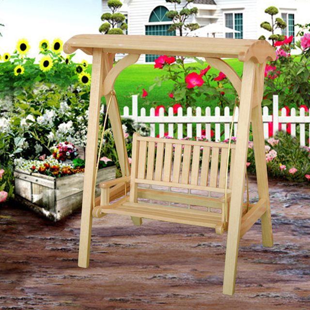 Miniature 1:12 Solid Wood Swing Bench