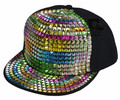 Unisex Sequin Punk Hedgehog Rock Hip Hop Adjustable Baseball Cap  HH-09