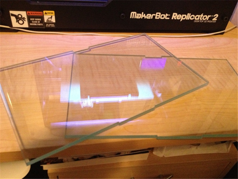 A Funssor Replicator 2 tempered glass build plate 8mm thickness Toughened glass for building bed Fast ship