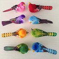 12 unids piezas, espuma Artificial de alta calidad, plumas pequeñas aves de amor coloridas sin pies, con imán en el Abdomen, decoración para bodas
