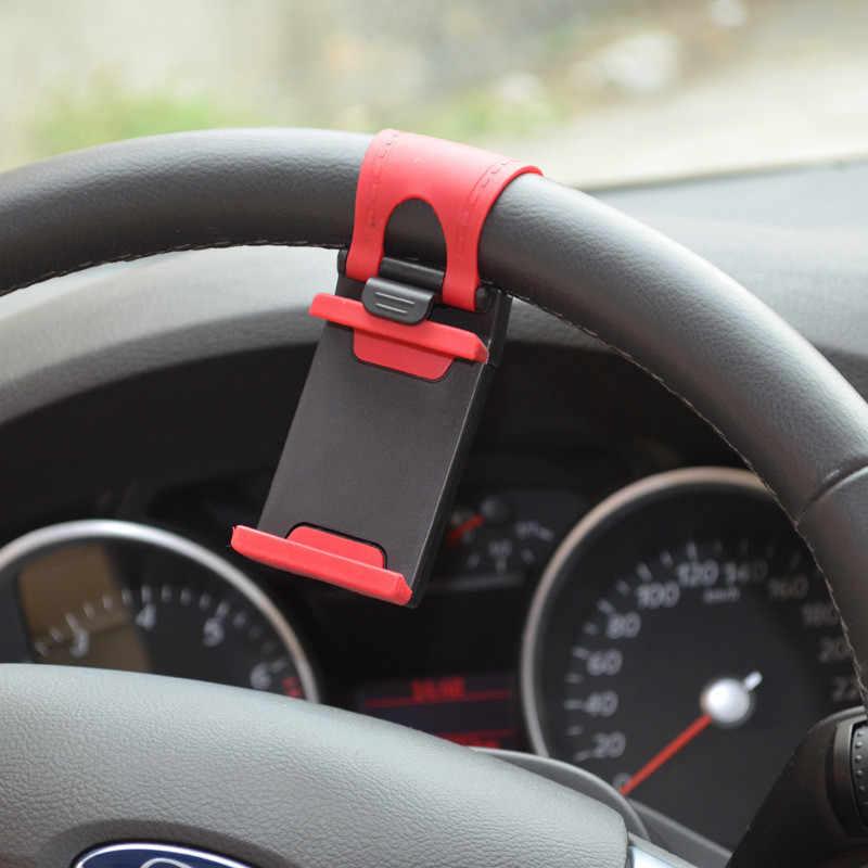 Pulseira Titular Do Telefone Do Carro Universal Para O Iphone 6 7 S S 5S Volante Do Carro Suporte de Montagem para Samsung Nota série GPS Do Telefone Inteligente