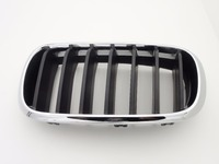 1Pcs Left Driver Side 51117294485 Chrome Front Bumper Kidney Grille Grill For BMW X5 F15 2014