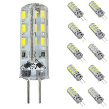 1.5W G4 LED Light Bulb 24 LED 3014 SMD Crystal Silicone Spotlight Bulb Cabinet Lamp Pure Warm White Lighting DC 12V(China)
