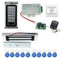 Envío gratis completo K2 + fuente de alimentación + cerradura magnética electrónica de control de acceso + puerta de salida buttonl + mandos + control remoto inalámbrico