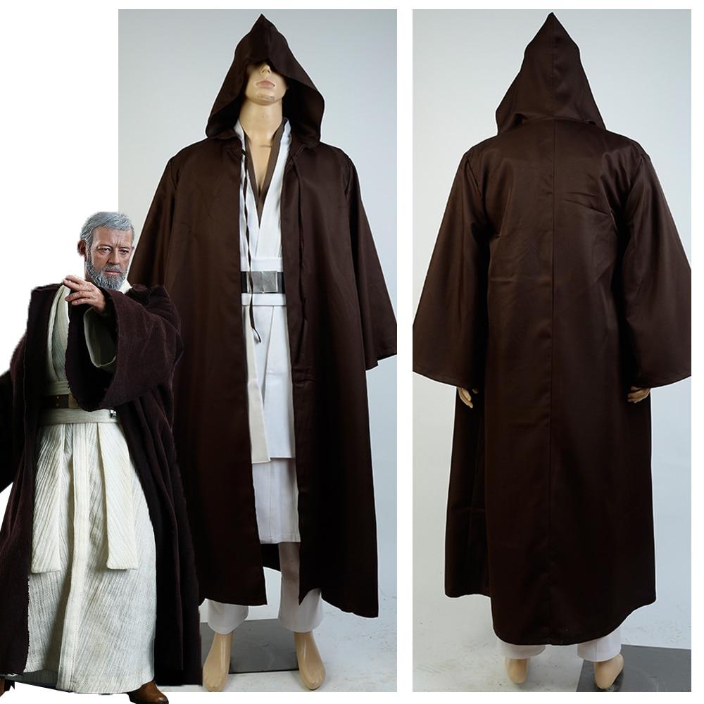 Hvězdné války Jedi Master Obi Wan Kenobi Cosplay kostým Dospělí Plášť Robe pro muže Halloween Cosplay kostýmy