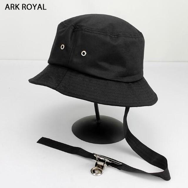 Cool Clip Ribbon Unisex Men s Bucket Hats Boonie Women Men hats Summer  Solid Color Bucket Hat Dancer Hip Hop Cap Beach hat 6e9d6c99b46