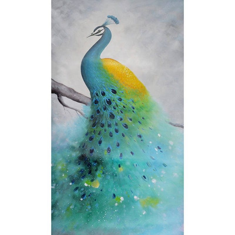 DIY Cute Peacock Diamond Painting Non-full DiamondCross Landscape Grease Fabric Embroidery Home Decoration Painting