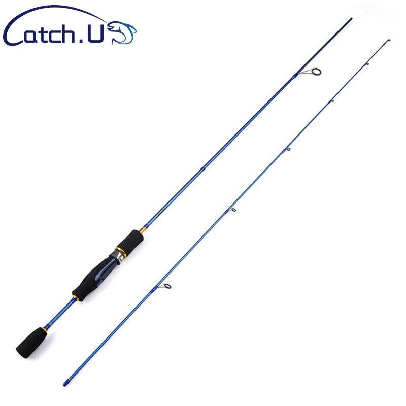 Baratos UL Spinning Rod 1,5-5g señuelo peso 3-7lb línea ultraligero señuelo de carbono caña de pescar